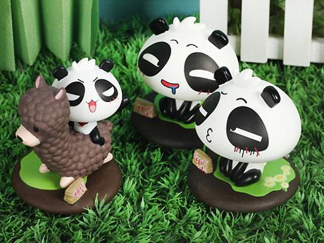 可爱 超萌 无知熊猫之熊猫出没摆件 公仔 尴尬熊猫